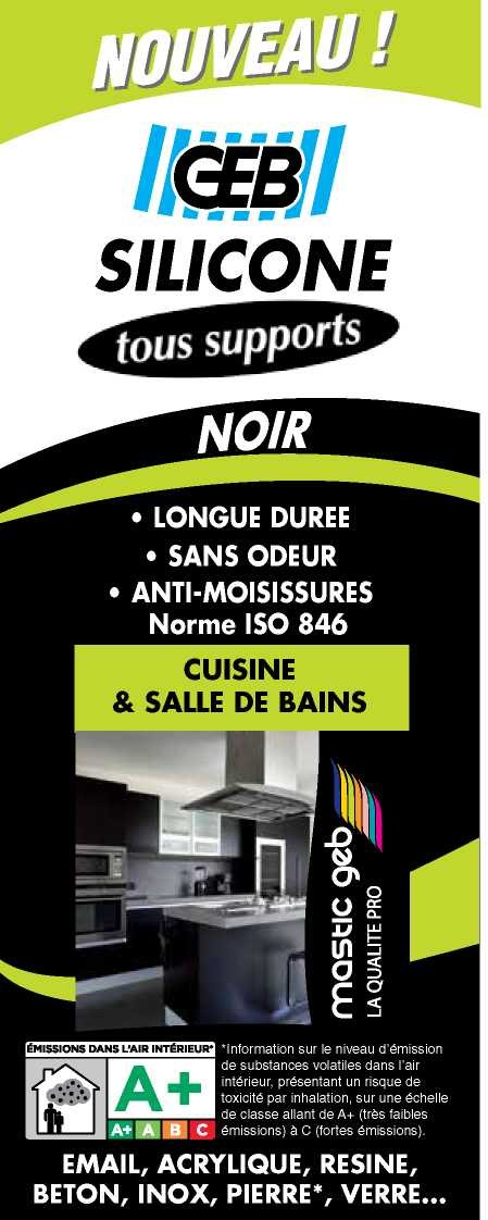 silicone tous supports geb noir de mastic multi usages 1064987 mon magasin g n ral. Black Bedroom Furniture Sets. Home Design Ideas