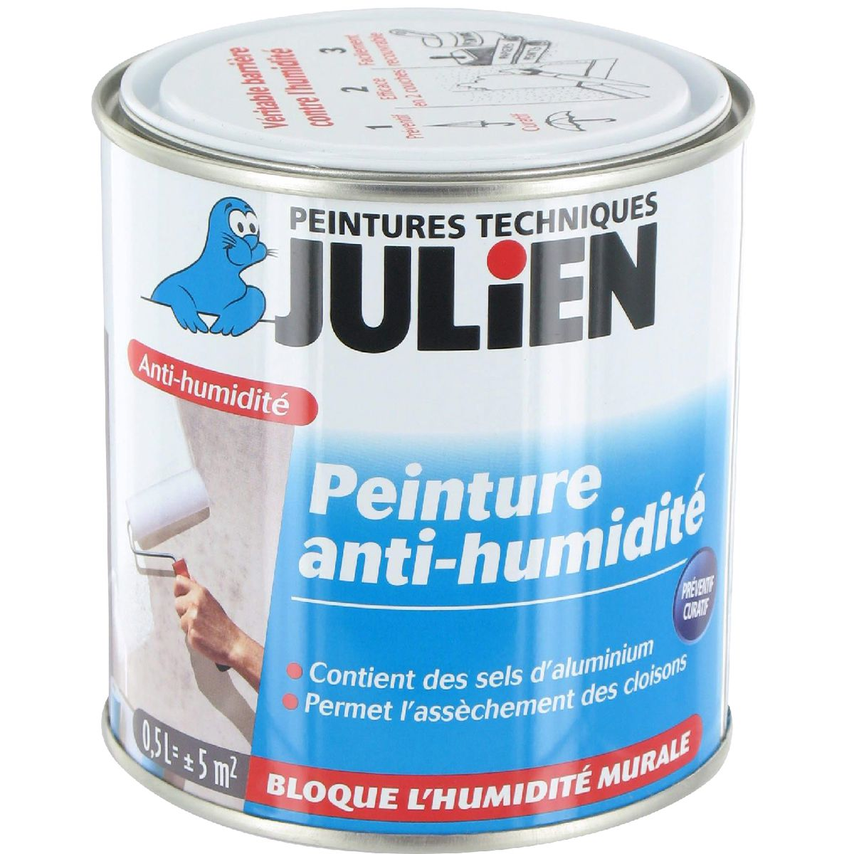 peinture anti humidit julien bo te 500 ml de peinture isolante 1065688 mon magasin g n ral. Black Bedroom Furniture Sets. Home Design Ideas