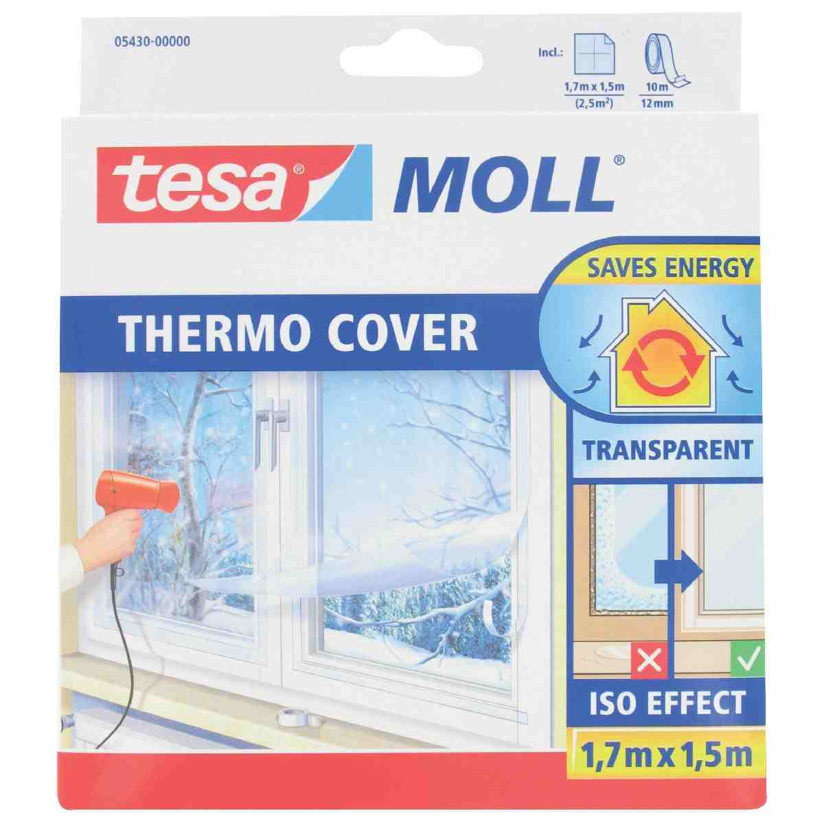 Film de survitrage thermo cover tesa longueur 4 m largeur 1 5 m de film d - Film isolant de survitrage ...