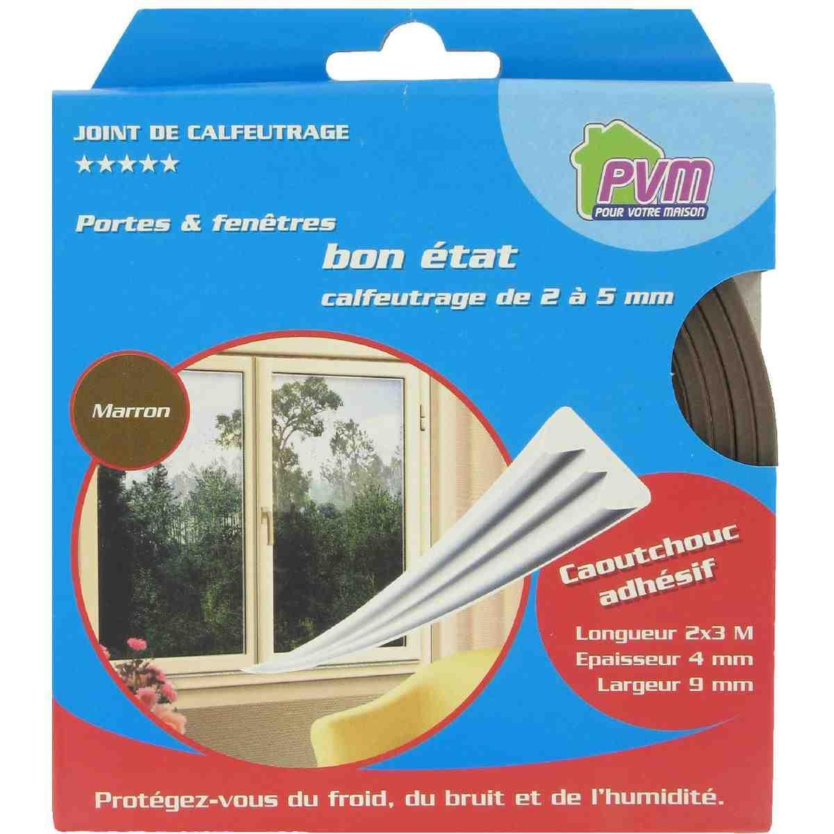 joint caoutchouc profil e pvm marron longueur 6 m de joint thermique. Black Bedroom Furniture Sets. Home Design Ideas
