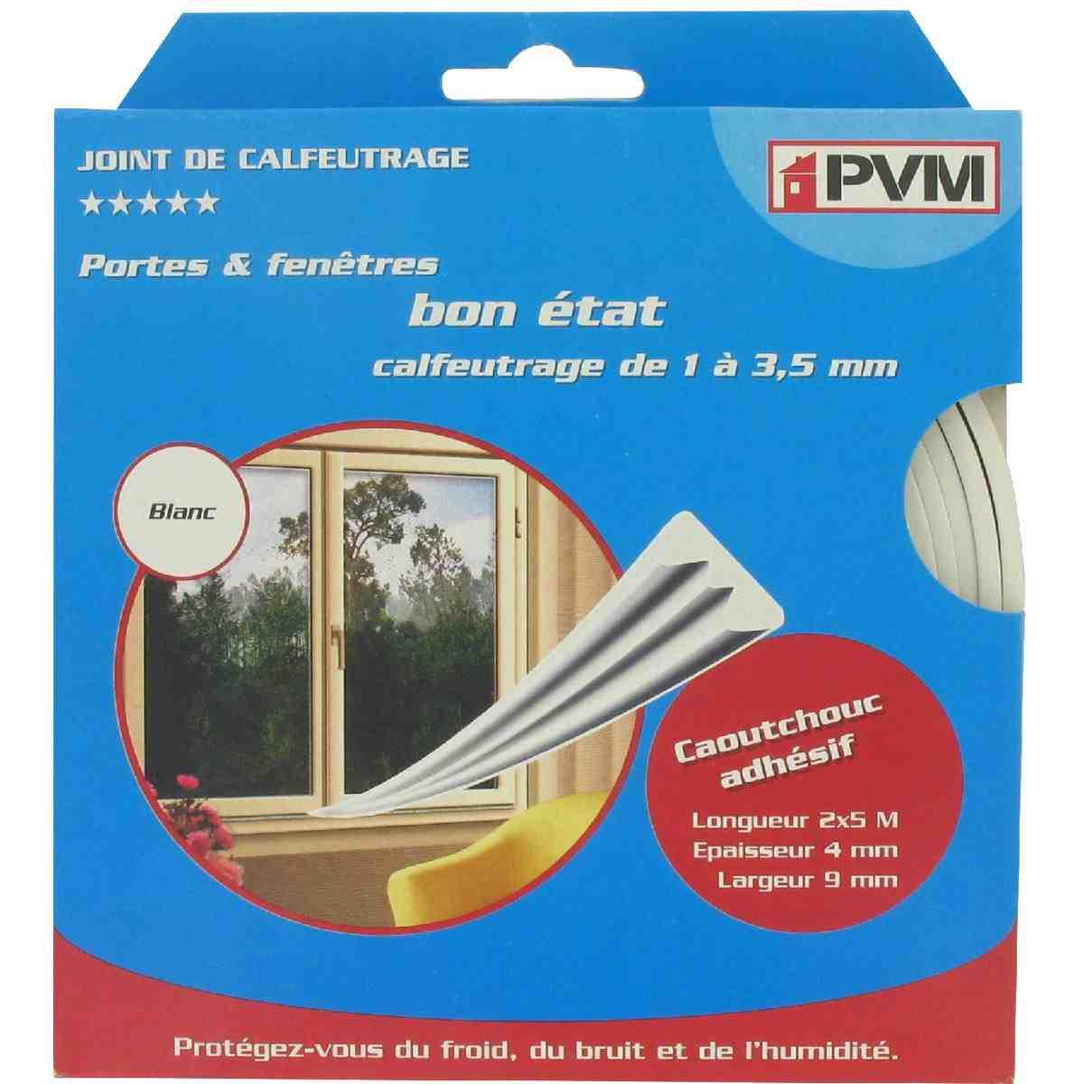 joint caoutchouc profil e pvm blanc longueur 10 m de. Black Bedroom Furniture Sets. Home Design Ideas