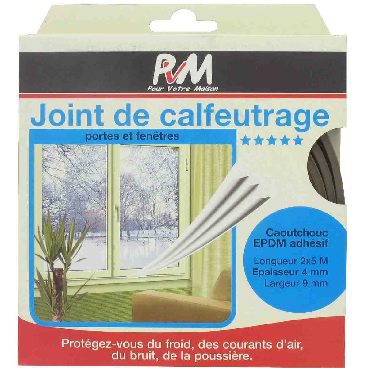 joint caoutchouc profil e pvm marron longueur 10 m de joint thermique. Black Bedroom Furniture Sets. Home Design Ideas