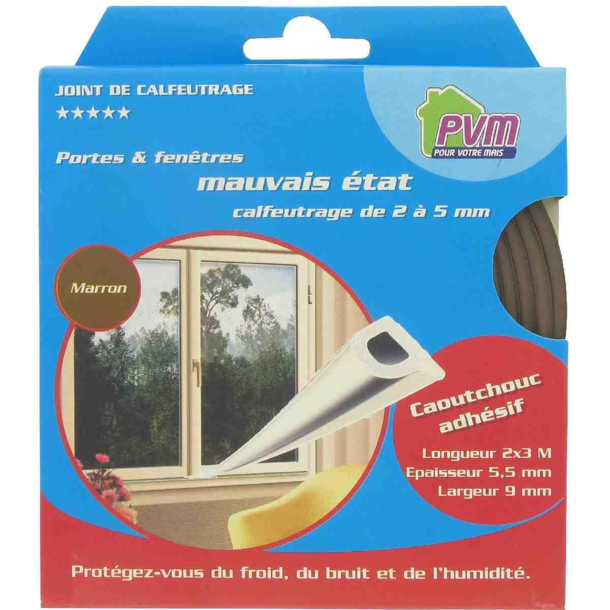 joint caoutchouc profil p pvm marron longueur 6 m de. Black Bedroom Furniture Sets. Home Design Ideas