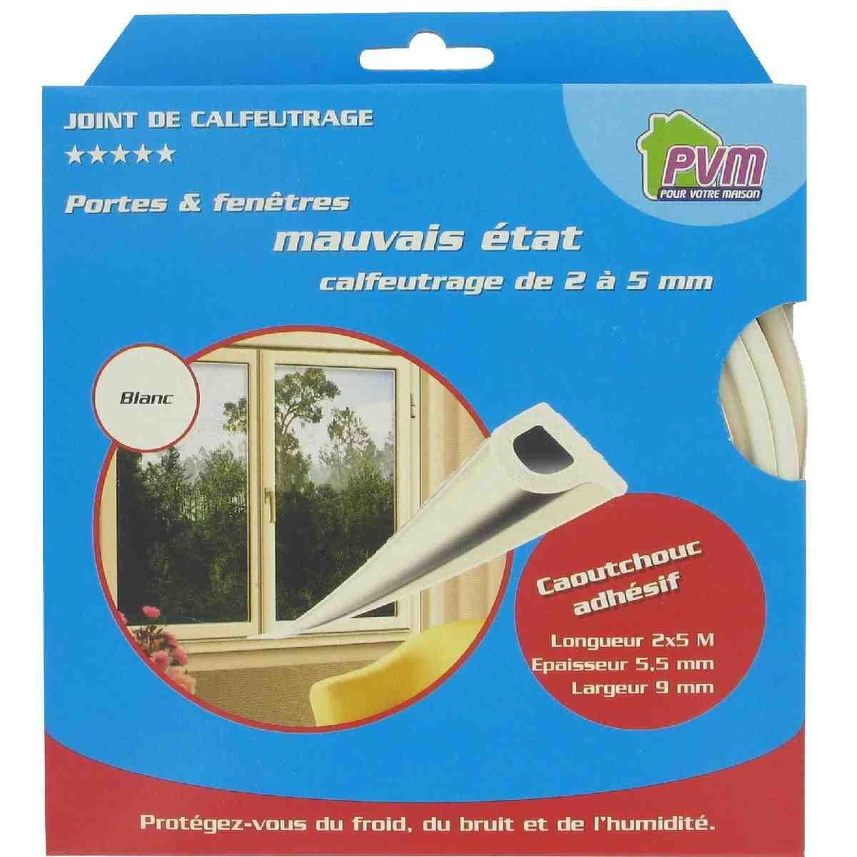 joint caoutchouc profil p pvm blanc longueur 10 m de joint thermique. Black Bedroom Furniture Sets. Home Design Ideas