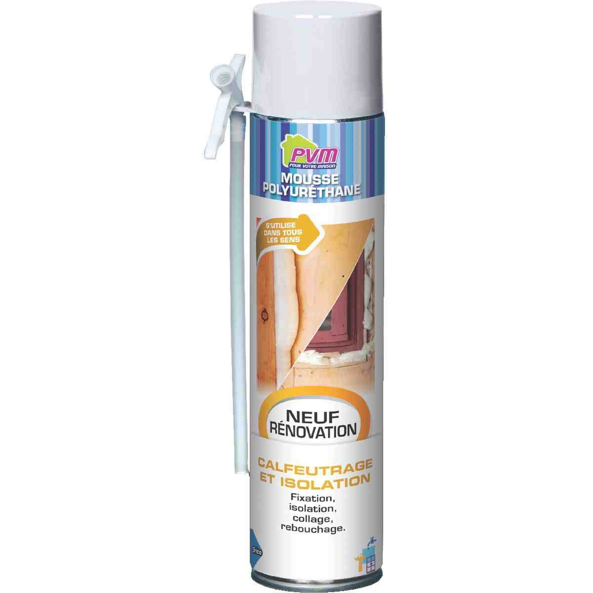 Mousse polyur thane pvm 750 ml avec gants de mousse d - Isolation mousse polyurethane ...