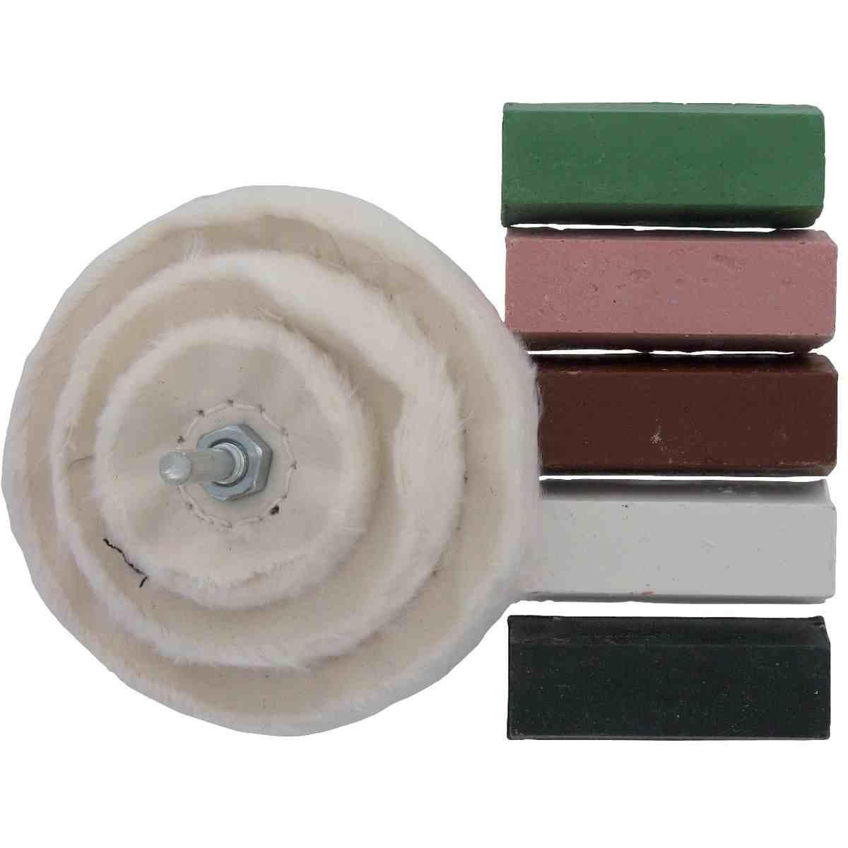 kit de polissage scid 3 tampons coton diam tre 50 80 et 100 mm et 5 p tes. Black Bedroom Furniture Sets. Home Design Ideas
