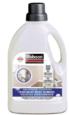 Traitement mur int rieur humide rubson bidon 750 ml de for Traitement humidite mur interieur