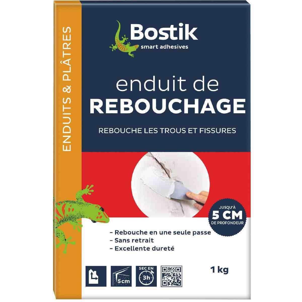 Enduit poudre de rebouchage bostik bo te 1 kg de enduit poudre de rebouchage - Enduit de rebouchage platre ...