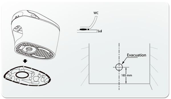 wc japonais excellence plus saniclean de cuvette de. Black Bedroom Furniture Sets. Home Design Ideas