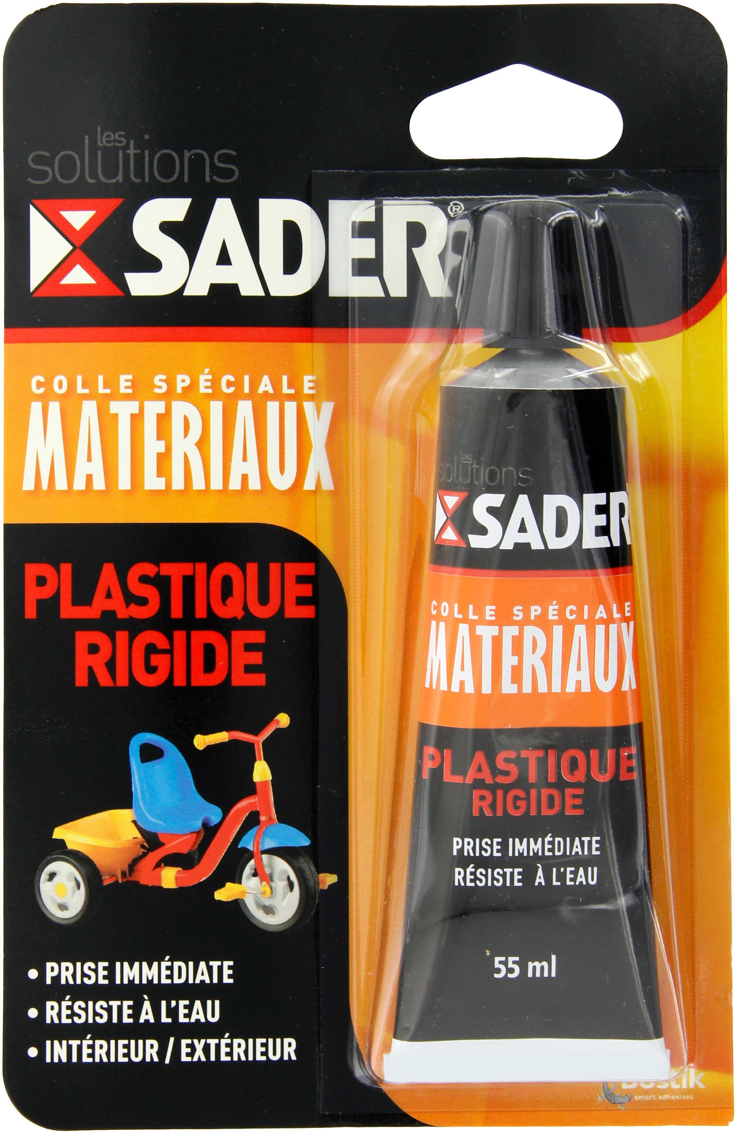 colle plastique rigide sader tube 55 ml de colle plastique rigide 1064731 mon magasin g n ral. Black Bedroom Furniture Sets. Home Design Ideas
