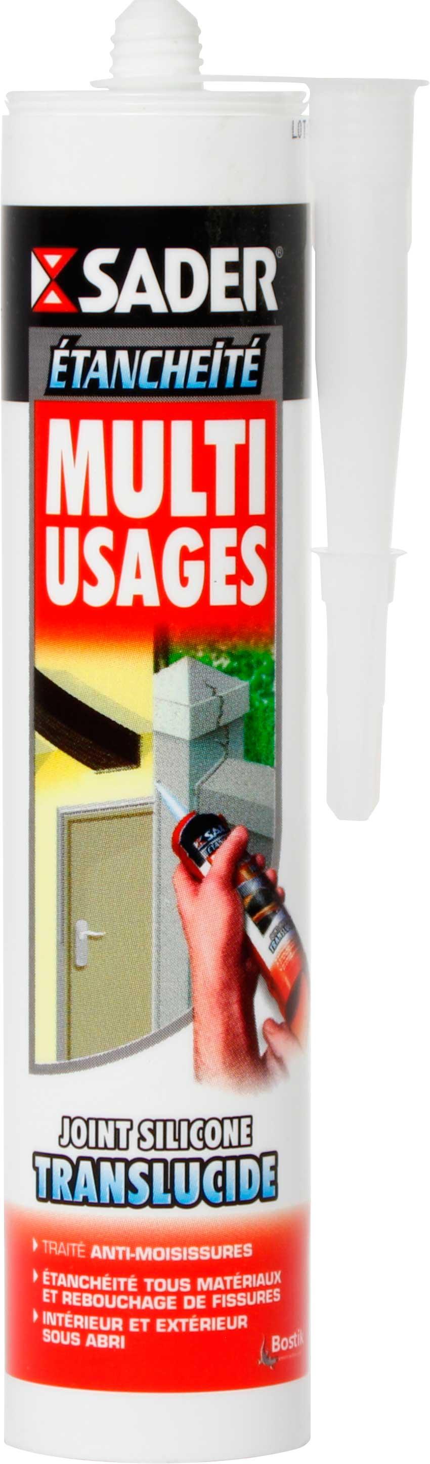 mastic multi usages sader cartouche 310 ml translucide de mastic multi usages. Black Bedroom Furniture Sets. Home Design Ideas