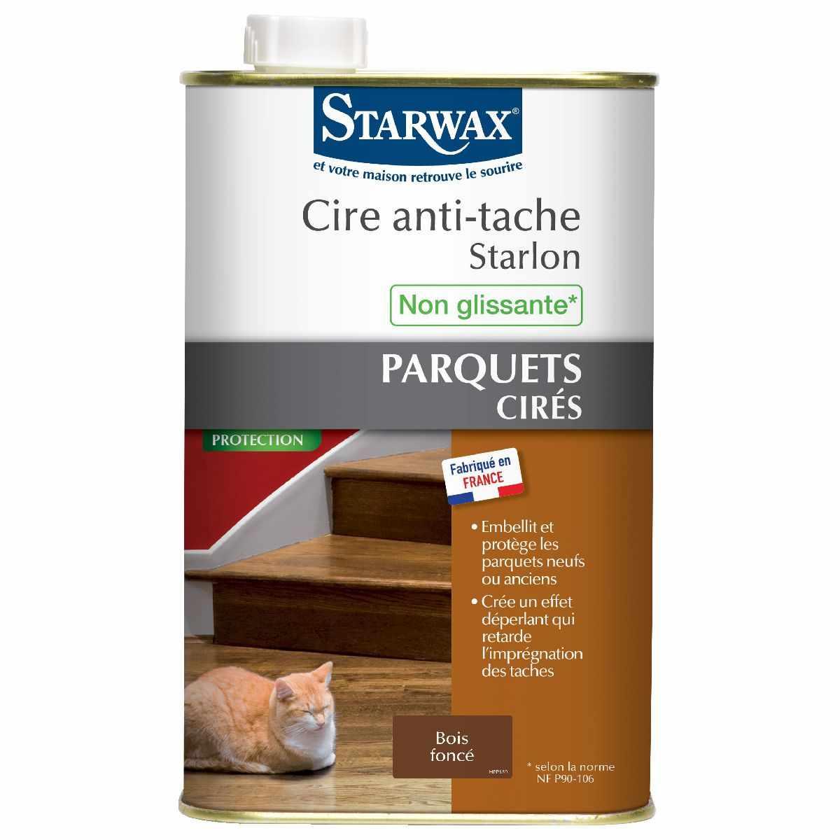 cire anti t che starlon starwax liquide 1 l bois fonc de cire anti tache. Black Bedroom Furniture Sets. Home Design Ideas