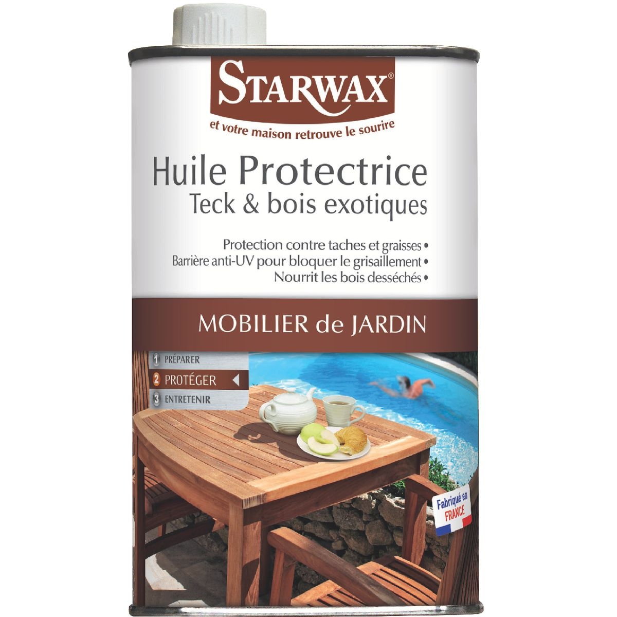 Huile protectrice teck-bois exotique Starwax