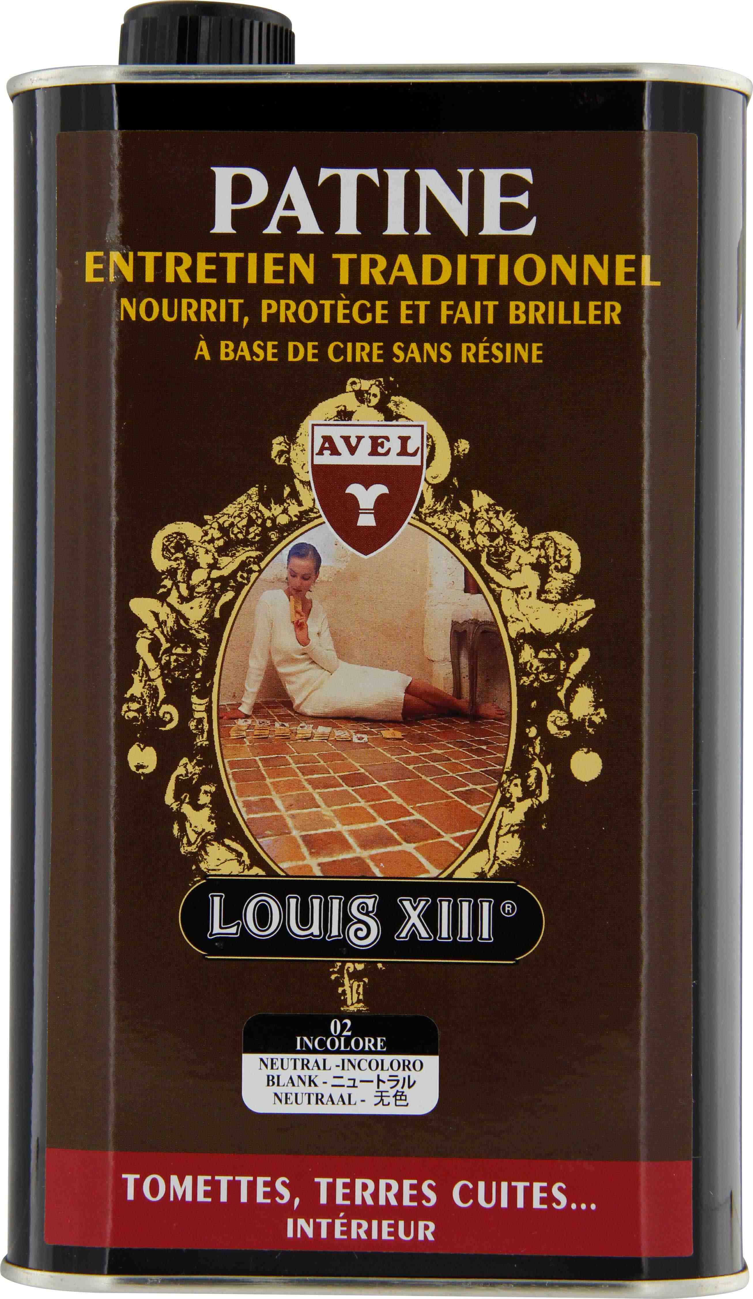 Cire tomette-terre cuite patine Avel Louis XIII