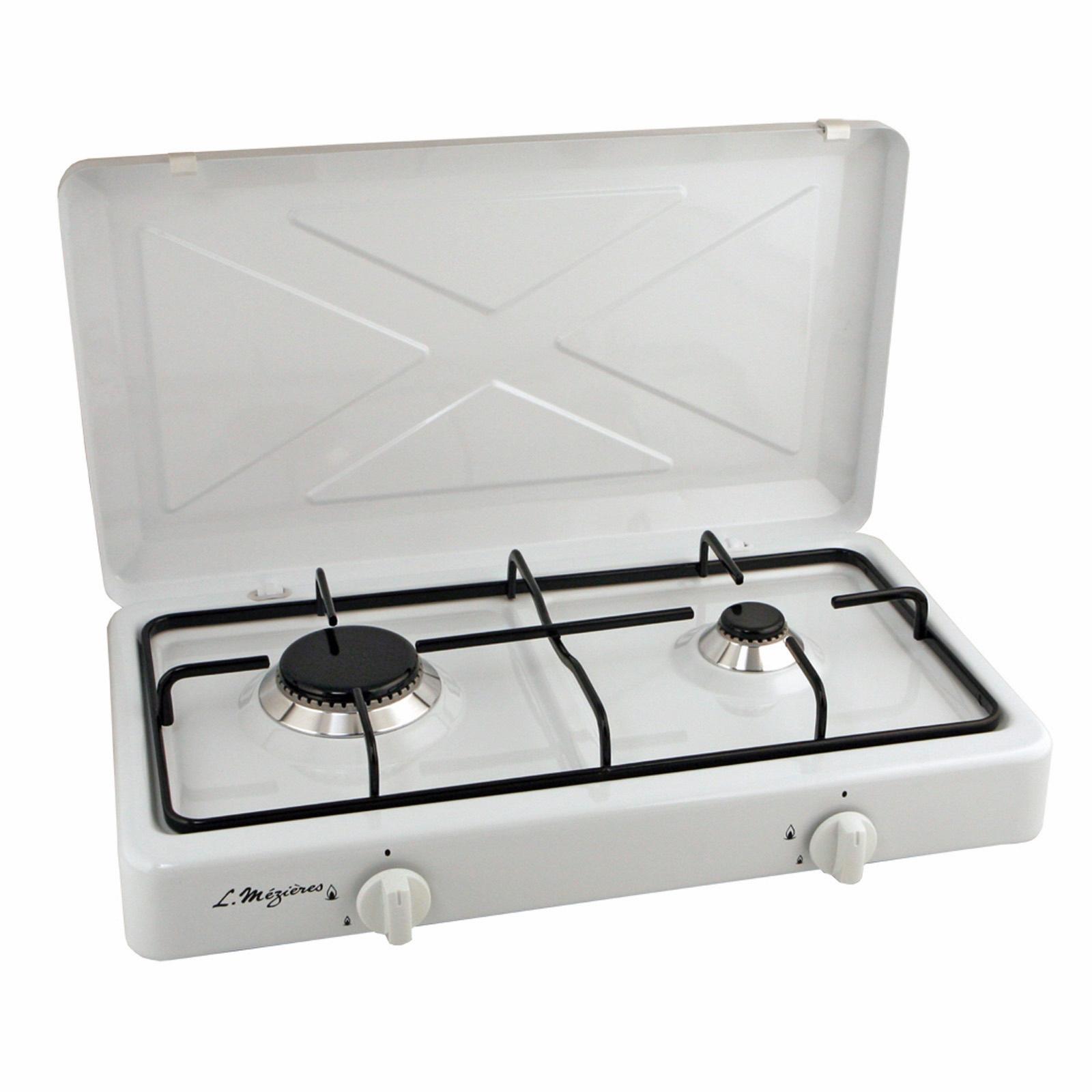 Platine de cuisson gaz 2 feux l m zi res 900 w et 2200 w - Plaque de cuisson portable ...