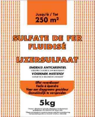 Sulfate de fer fluidis florendi sac 5 kg - Sulfate de fer pelouse ...